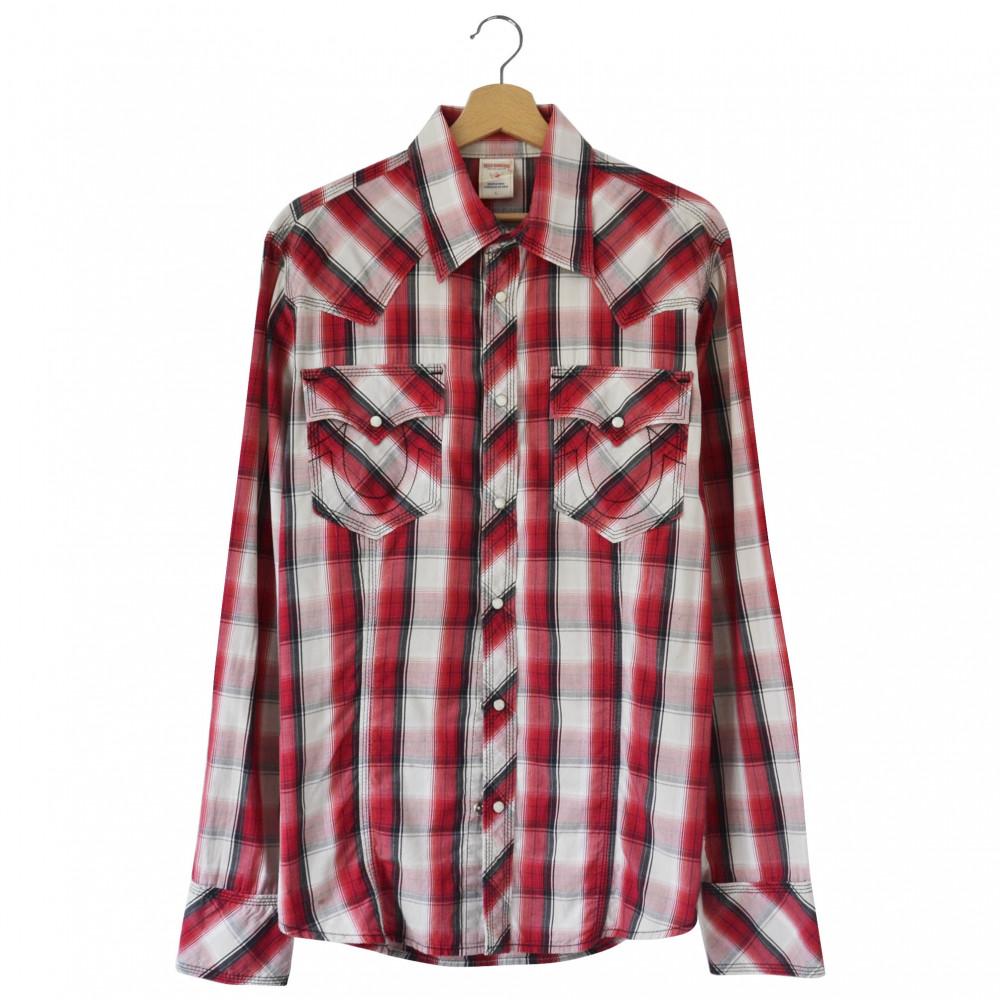 True Religion Plaid Shirt (Red)