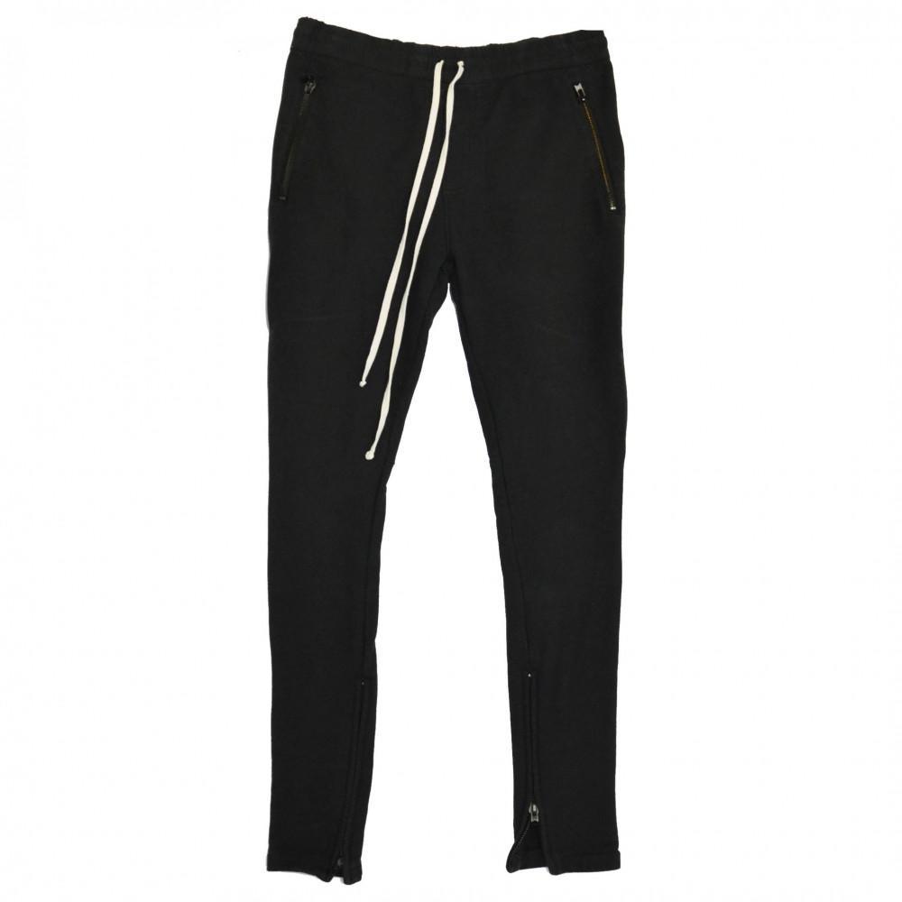 Fear of God Essentials Drawstring Zip Sweatpants (Black)