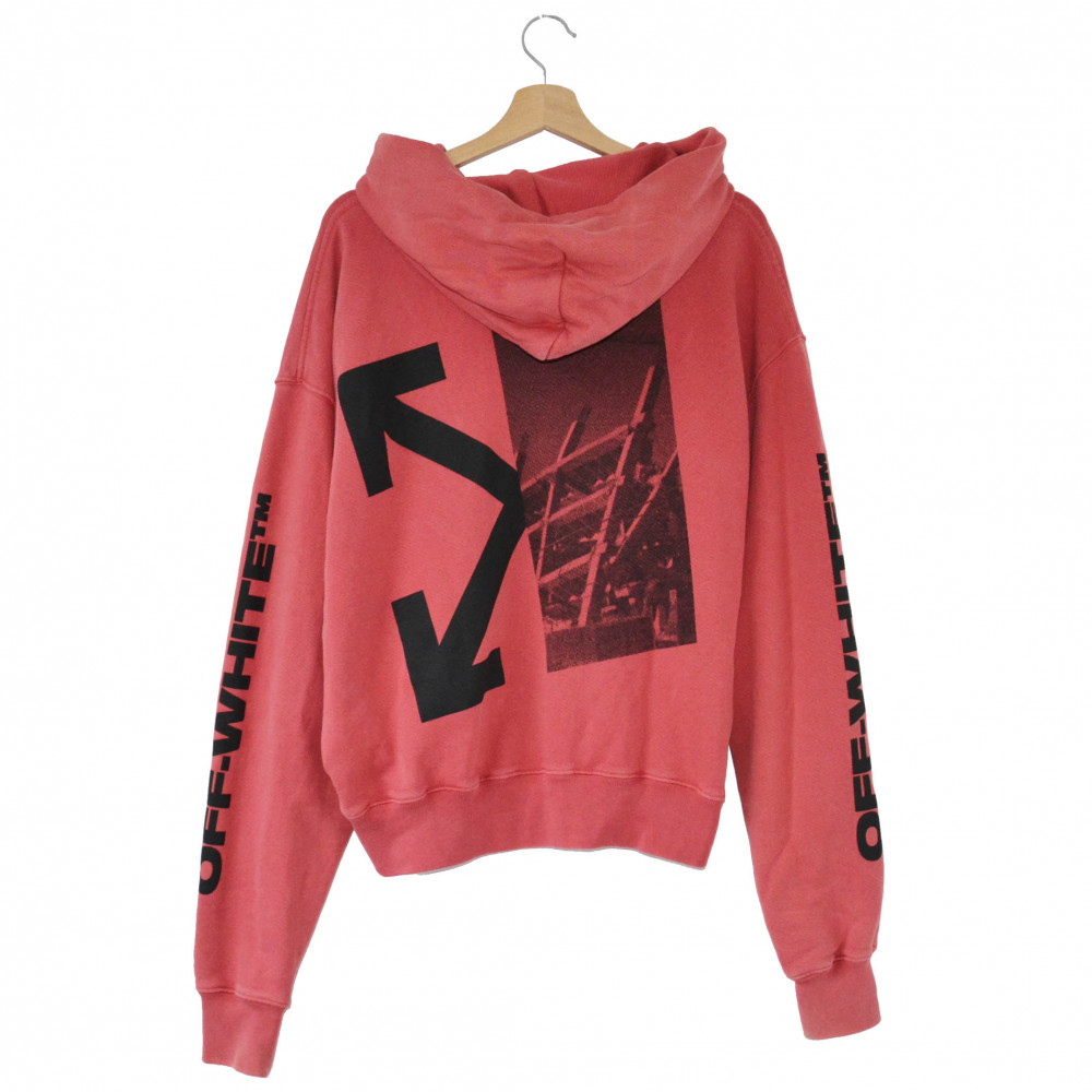 Off-White Splitted Arrows Hoodie (Red)