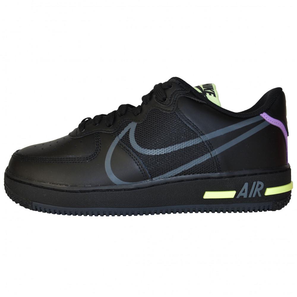 Nike Air Force 1 React (Black/Violet Star)