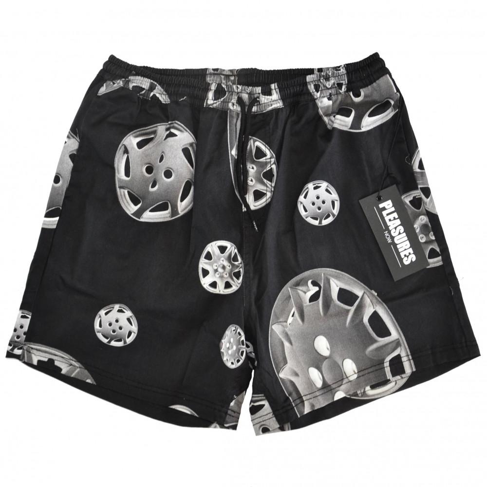 Pleasures Roadside Twill Shorts (Black)