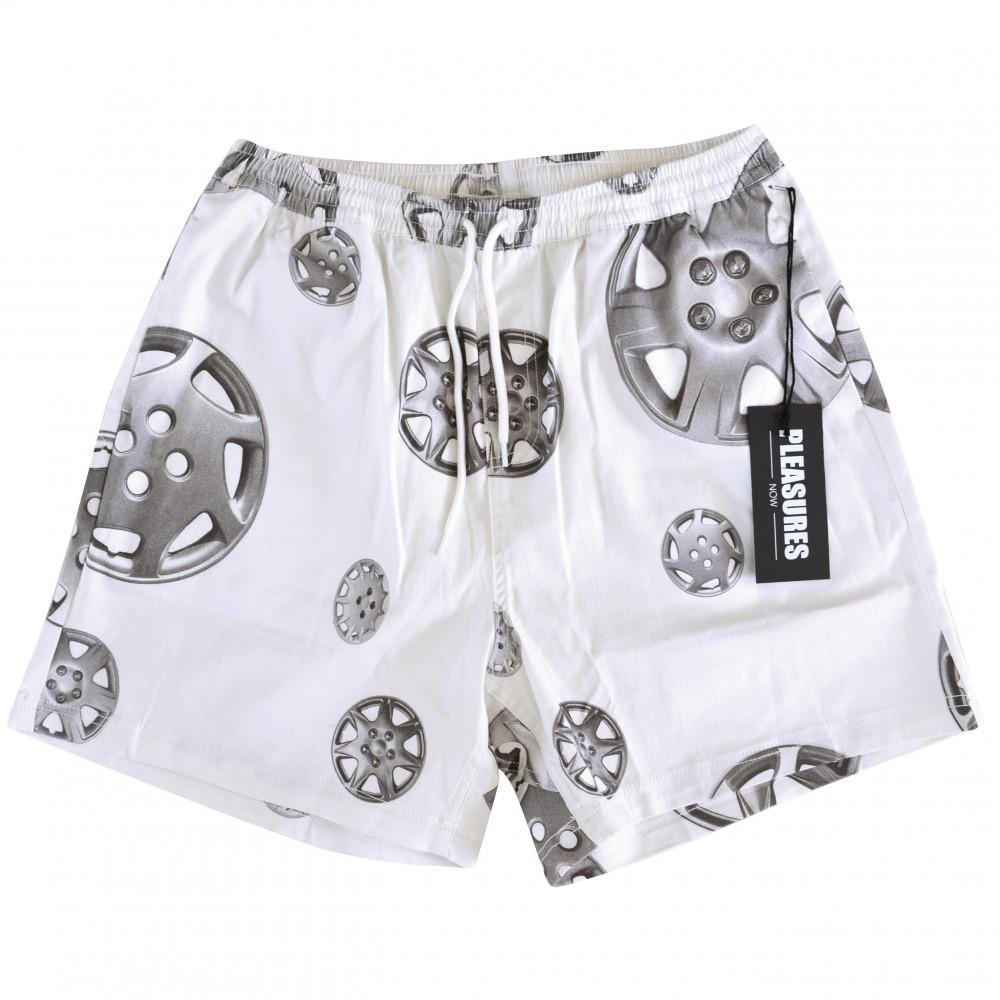 Pleasures Roadside Twill Shorts (White)