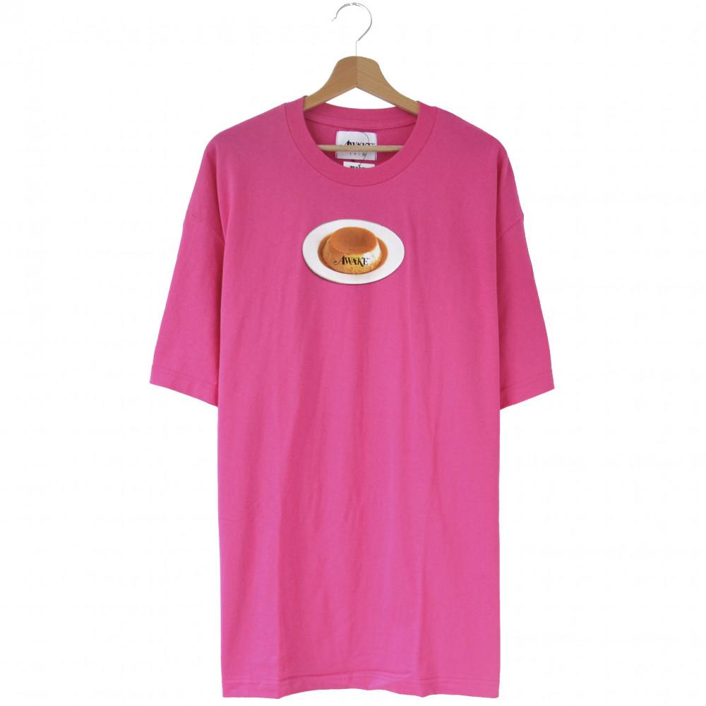 Awake Flan Logo Tee (Pink)