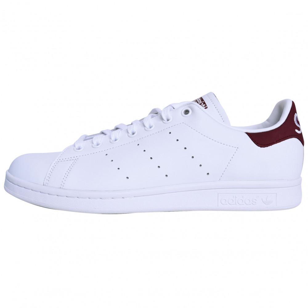 adidas Stan Smith (White/Burgundy)