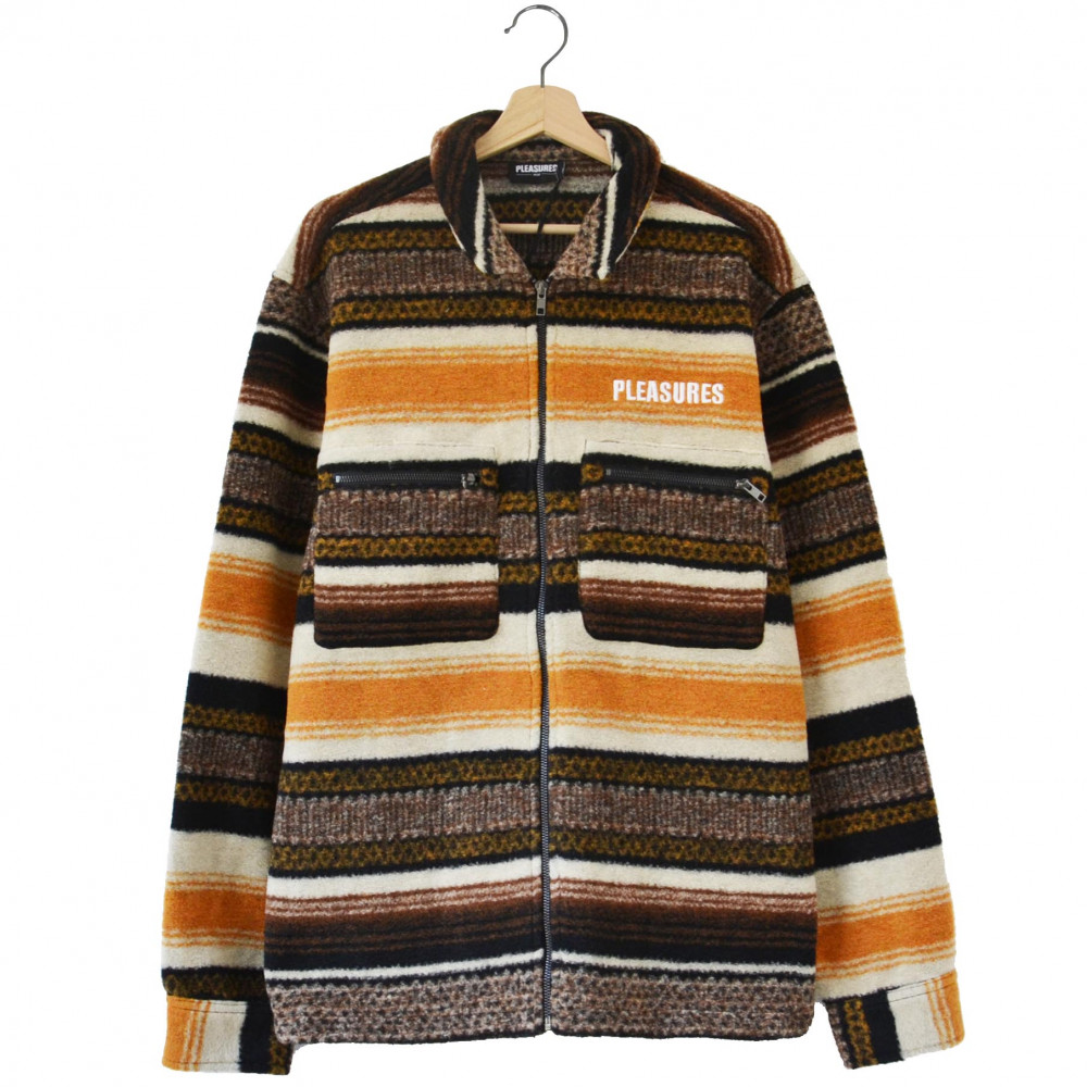 Pleasures Explorer Zip-Up Shirt (Brown)