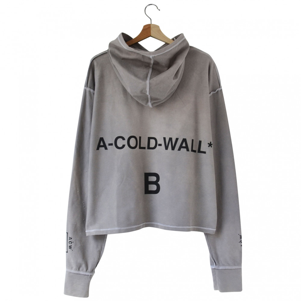 A Cold Wall Split Front Hoodie (Washed Grey)