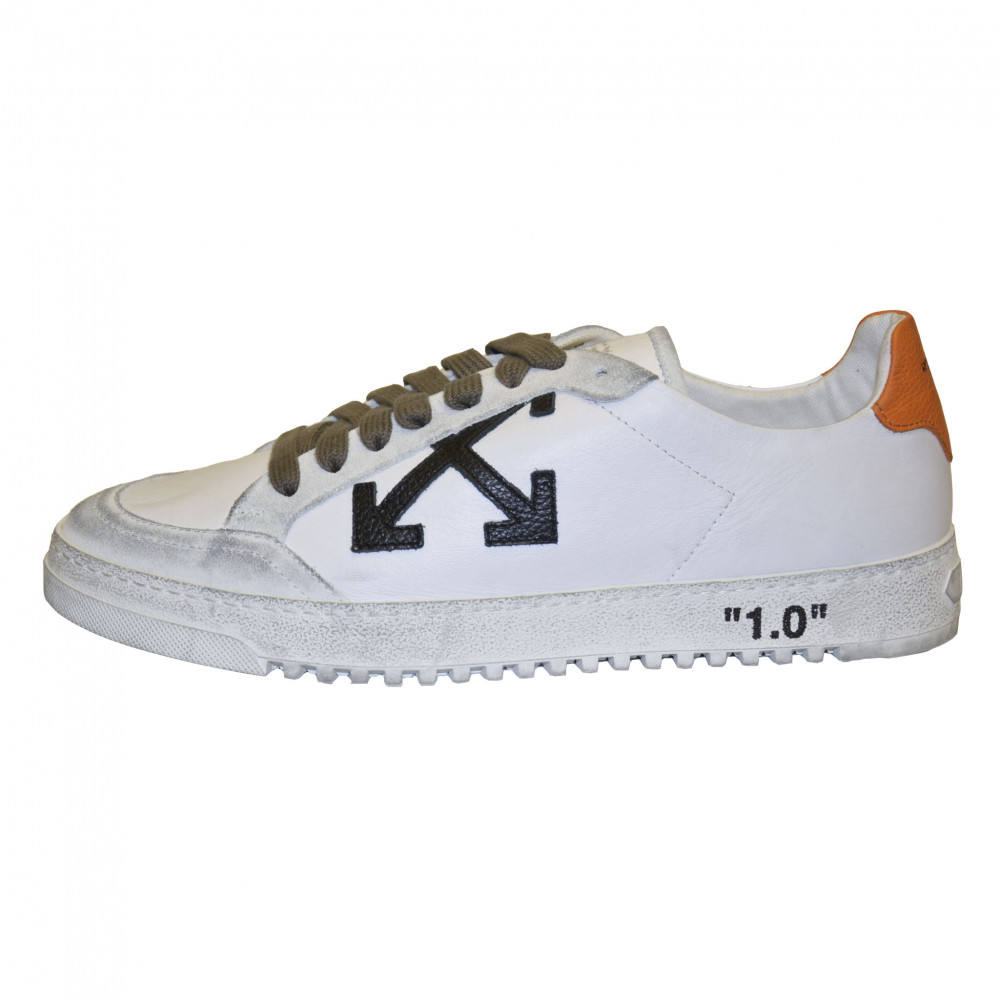 Off-White 2.0 Leather Low Top Sneakers (White/Black)