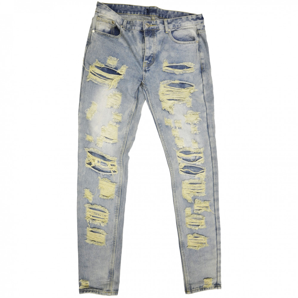 Distressed Denim Ripped Jeans (Denim)