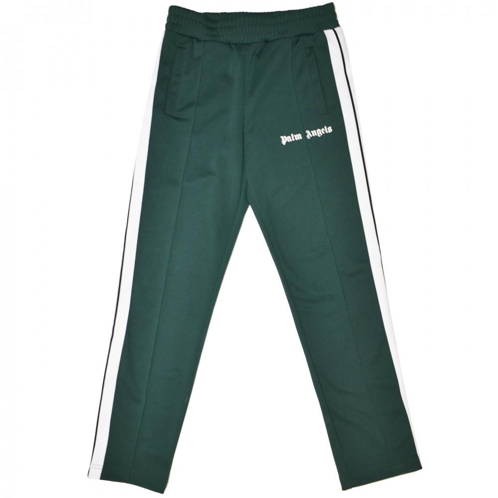 Palm Angels Logo Track Pants (Dark Green)