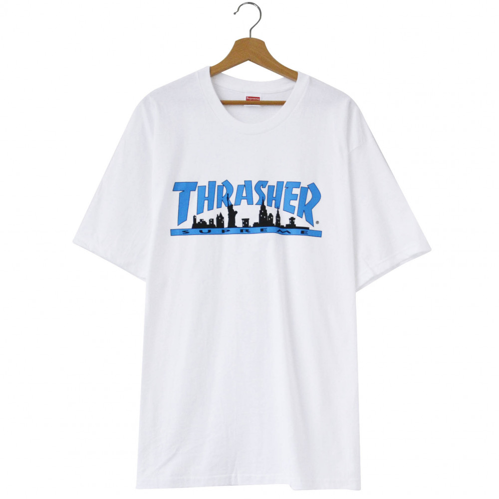 Supreme x Thrasher Skyline Tee (White)