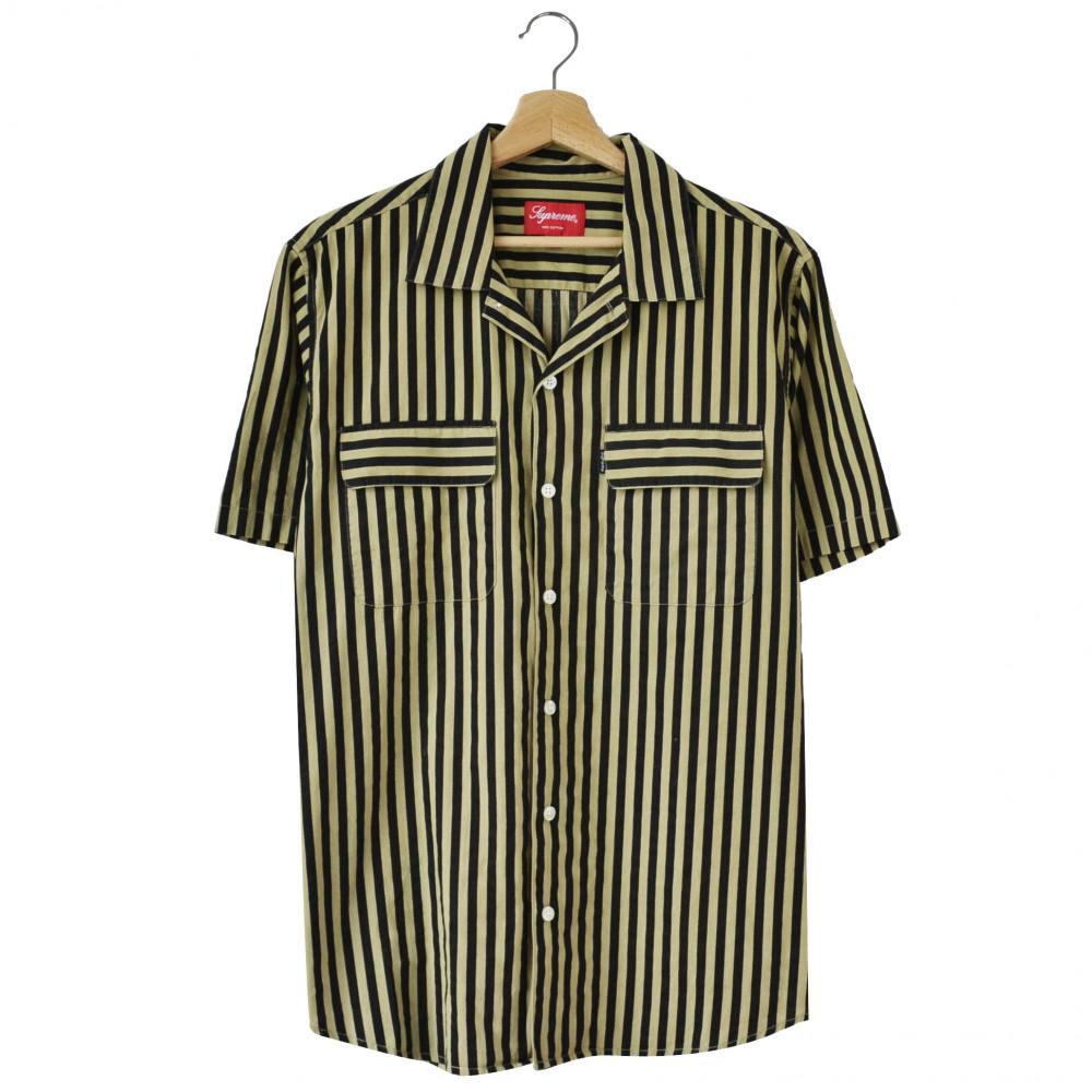 Supreme Striped Garage S/S Shirt (Black/Gold)