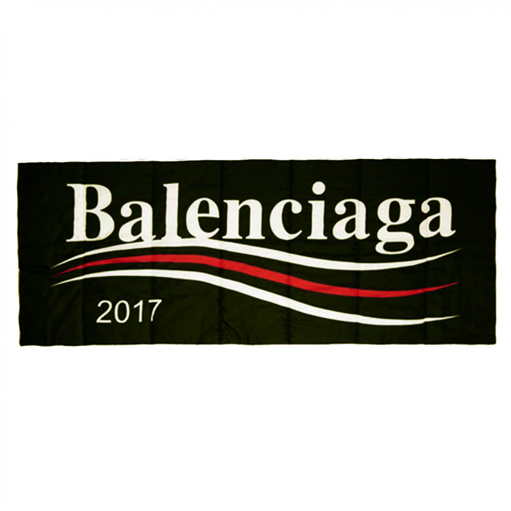 Balenciaga 2017 Bernie Silk-Blend Scarf (Black)