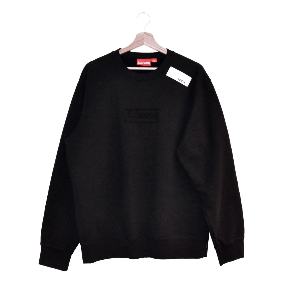 Supreme Cut Out Box Logo Crewneck (Black)