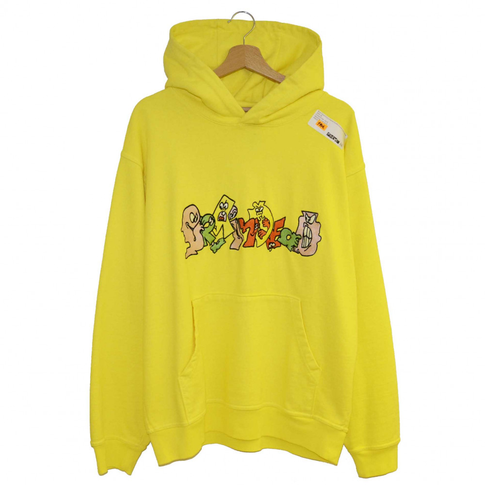 Brain Dead Embroidered Graffiti Hoodie (Light Yellow)