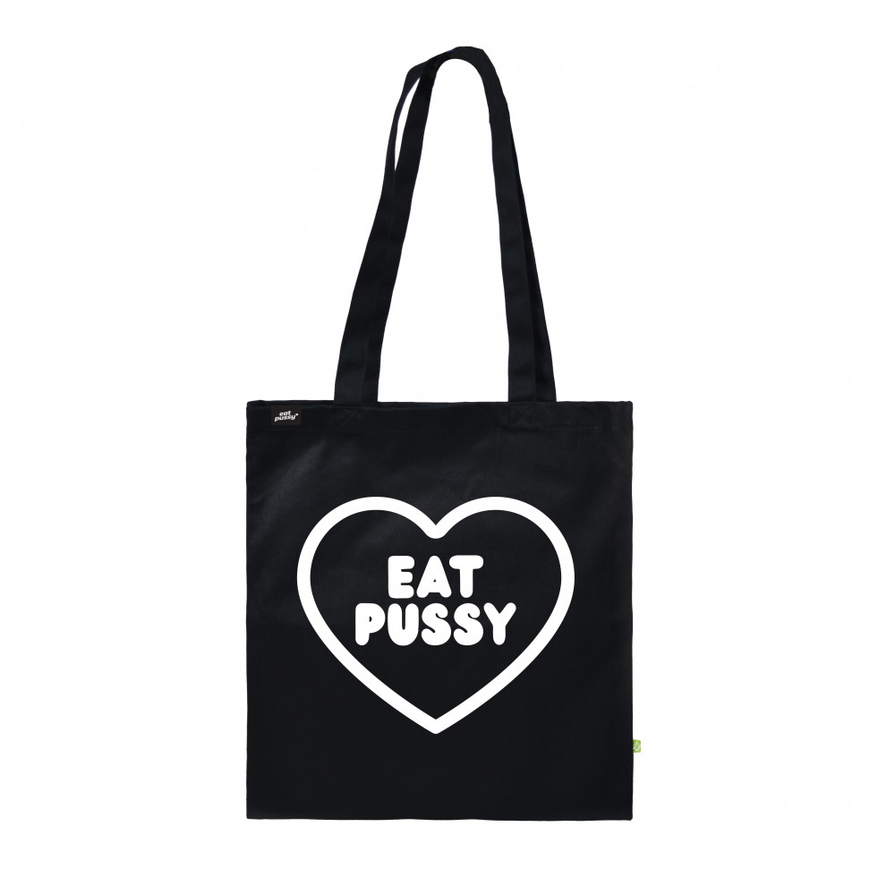 EATPUSSY Heart Tote Bag (Black)