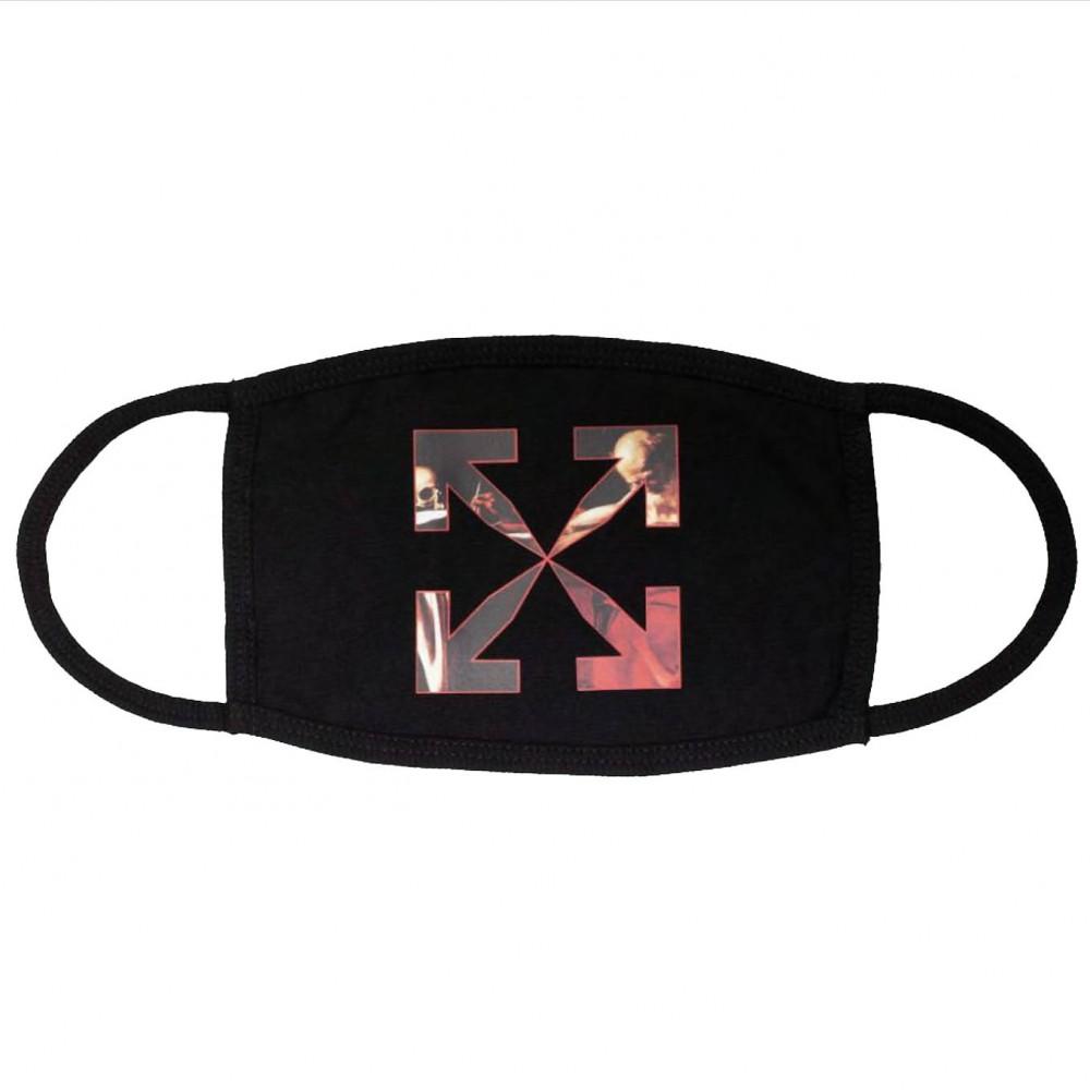 Off-White Caravaggio Face Mask (Black/Red)
