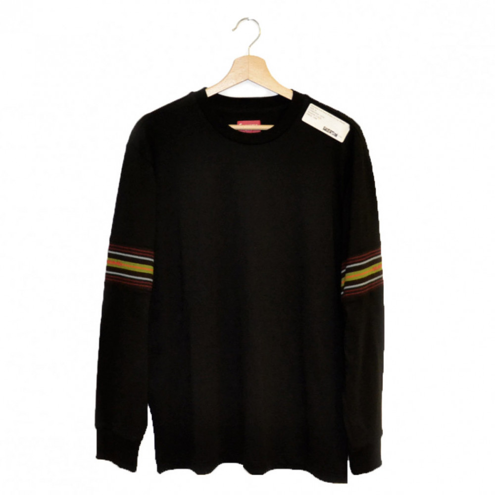 Supreme Knit Panel Stripe L/S Top (Black)