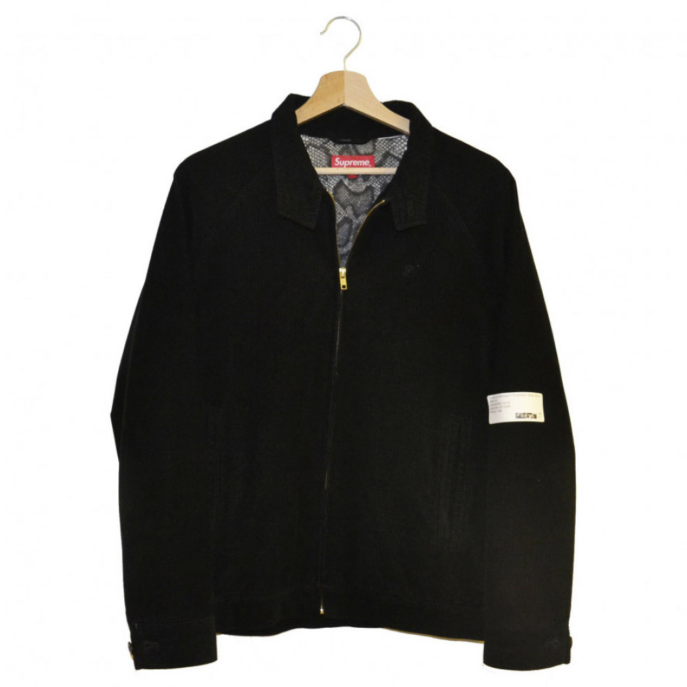 Supreme Corduroy Harrington Snakeskin Jacket (Black)