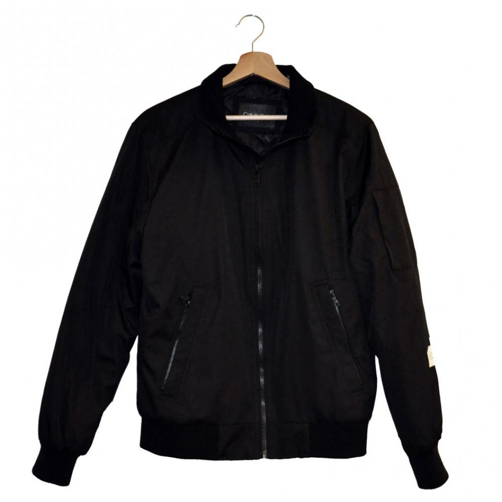 Calvin Klein Ripstop Bomber Jacket (Black)