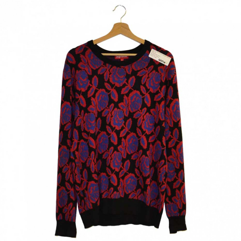 Supreme Rose Knit Sweater (Black)