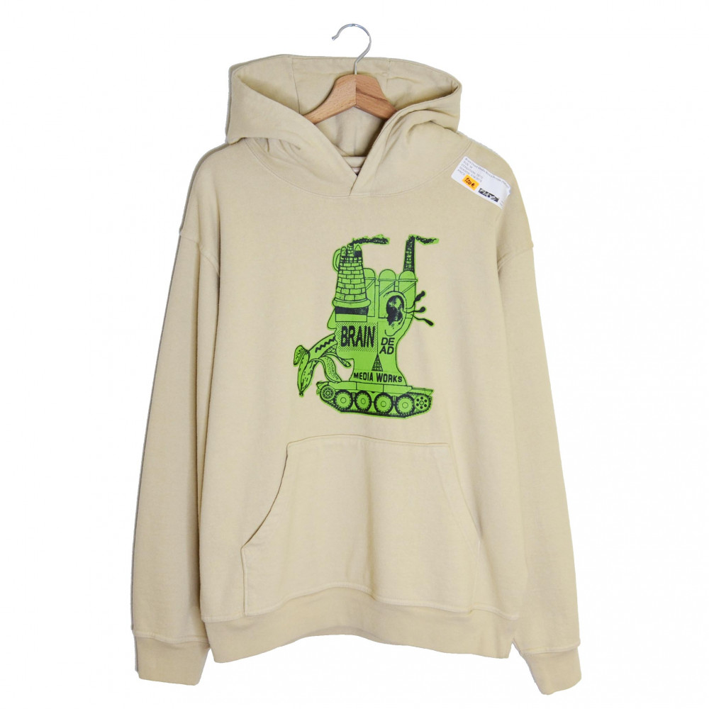 Brain Dead Media Works Hoodie (Natural)