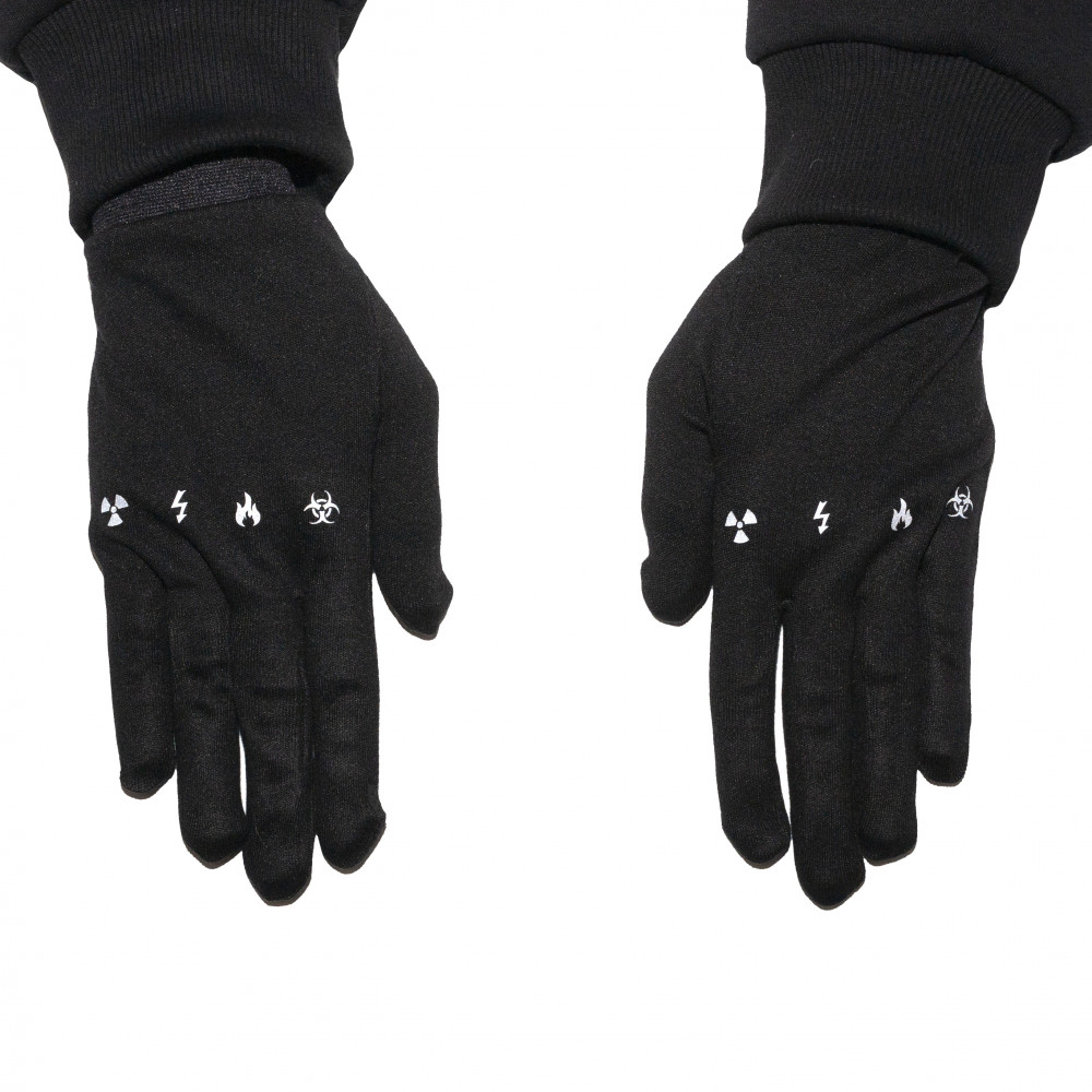 Yokai Danger Sign Gloves (Black)
