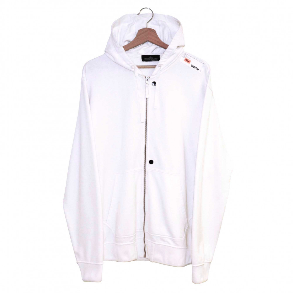 Stone Island Shadow Project FELPA CO Hoodie (White)