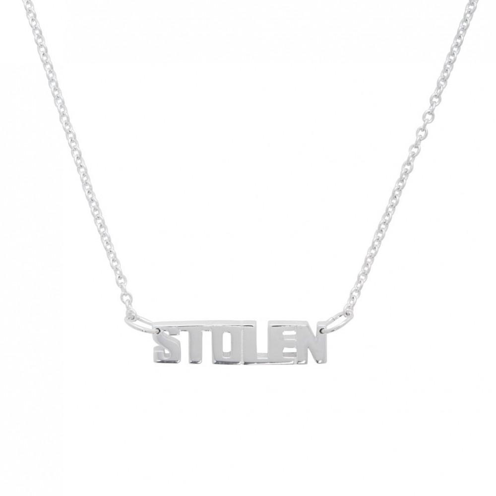 Stolen Girlfriends Club Letter Necklace (Silver)
